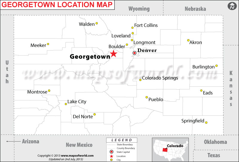Where is Georgetown located in Colorado