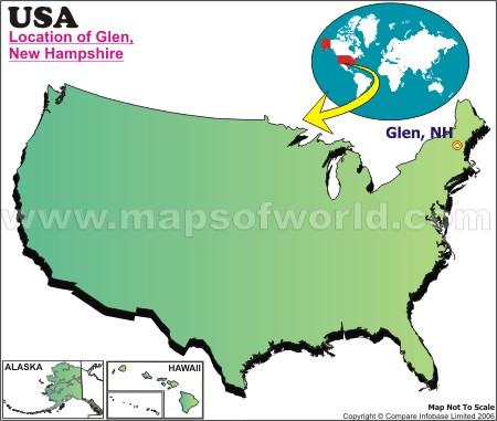 Location Map Of Glen, USA