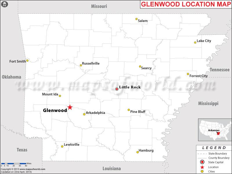Where is Glenwood, Arkansas