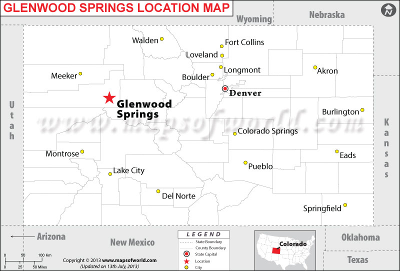Where is Glenwood Springs located in Colorado