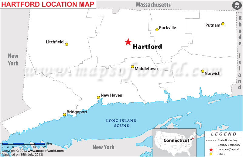 Where is Hartford Located in Connecticut, USA