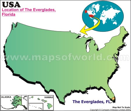 Location Map of Everglades, The., USA