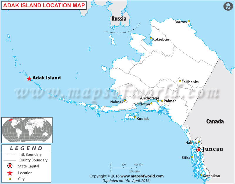 Where is Adak Islands , Alaska