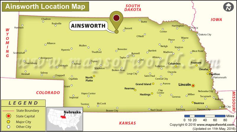 Where is Ainsworth, Nebraska