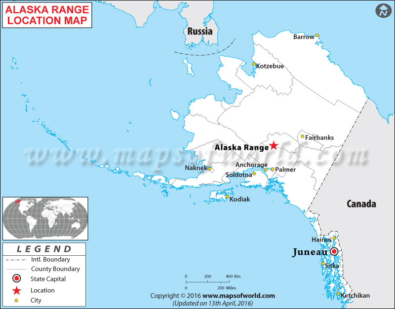 Where Is Alaska Range Located In Alaska USA - Map of alaska and canada