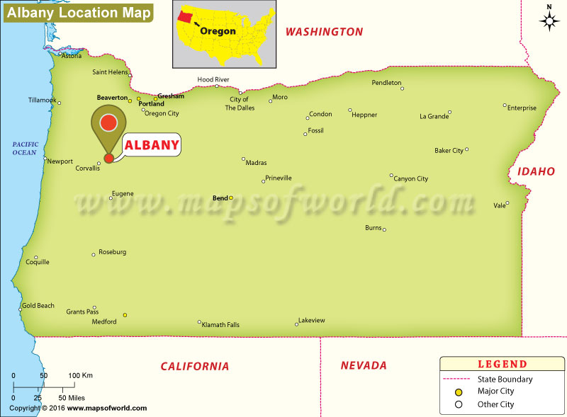 Where is Albany, Oregon