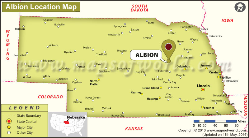 Where is Albion, Nebraska