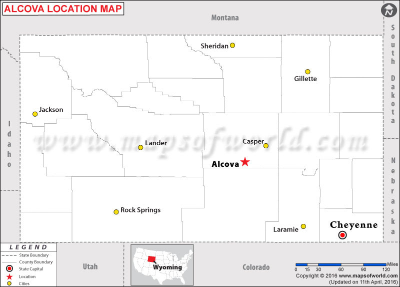 Where is Alcova , Wyoming