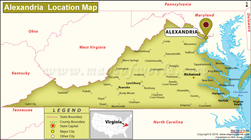 Where Is Alexandria Located In Virginia USA - Virginia in usa map