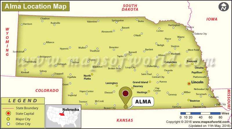 Where is Alma, Nebraska