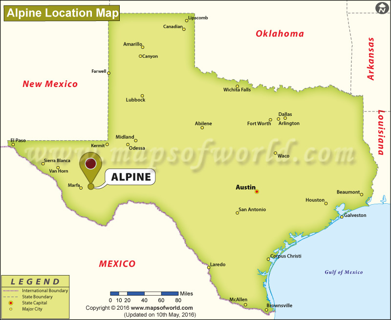 Where is Alpine , Texas