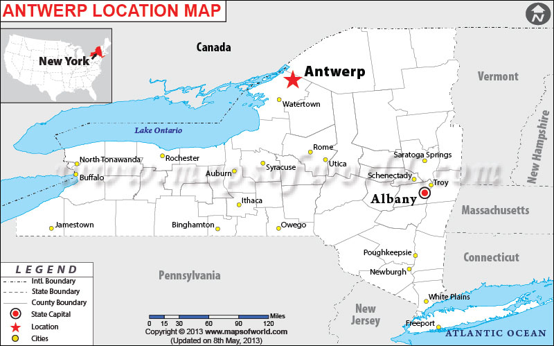 Where is Antwerp, New York