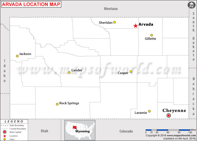 Where is Arvada , Wyoming