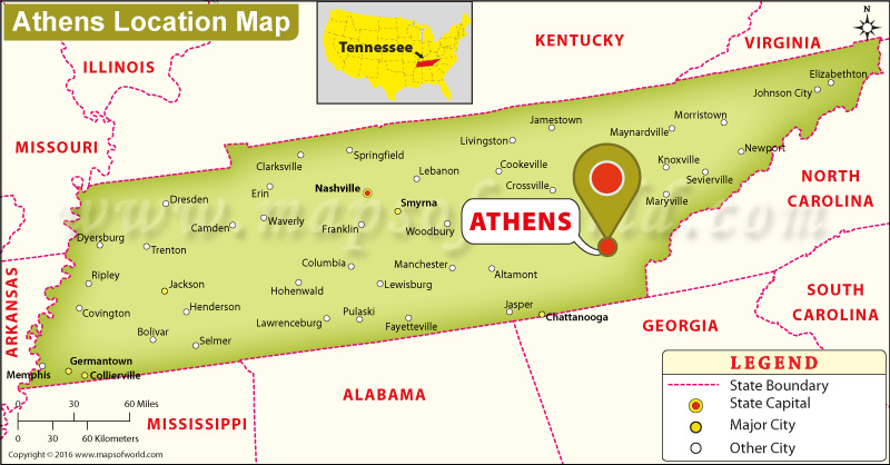 Where is Athens , Tennessee