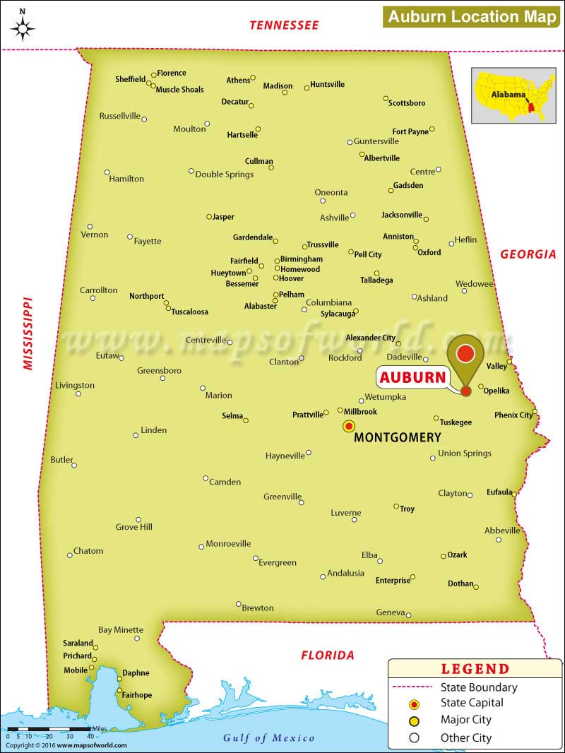 Where is Auburn, Alabama