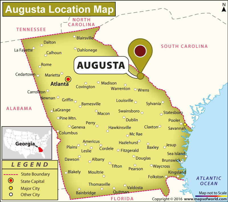 Where is Augusta Located in Georgia USA