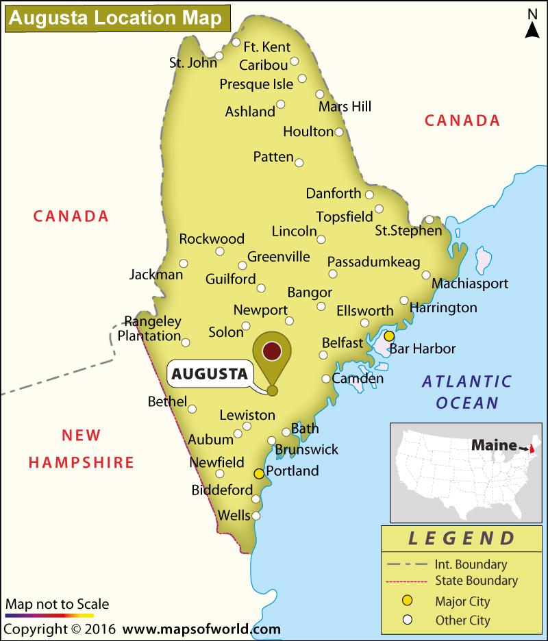 Where Is Augusta Located In Maine Usa