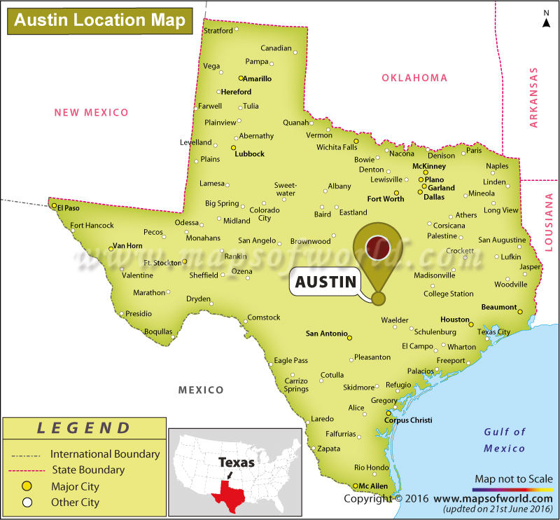 Austin Tx On Map Where is Austin Located in Texas, USA
