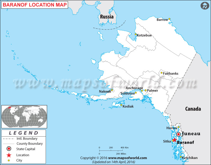 Where is Baranof , Alaska