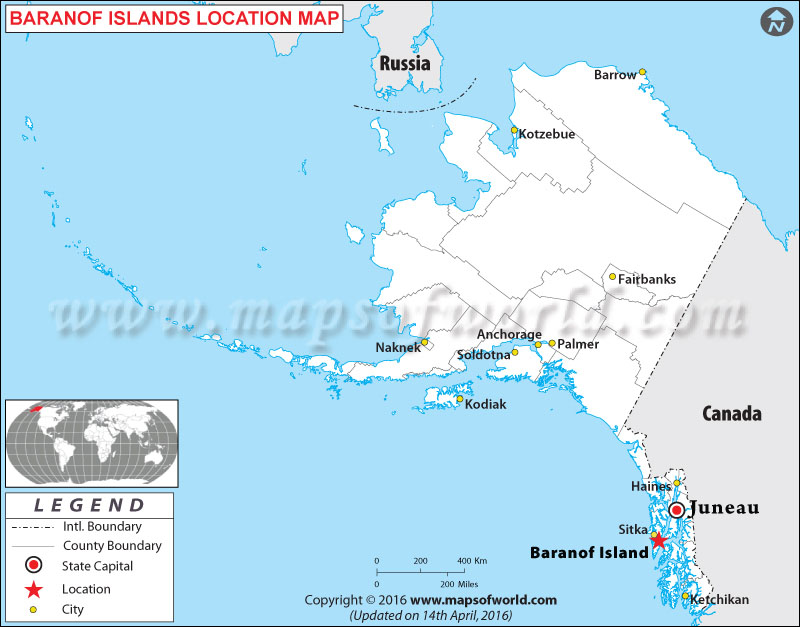 Where is Baranof Islands , Alaska