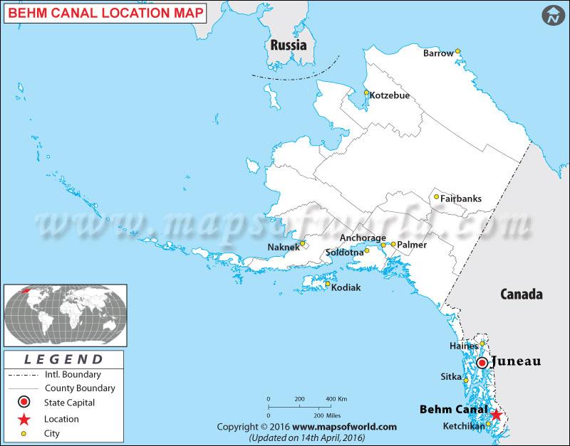 Where is Behm Canal , Alaska