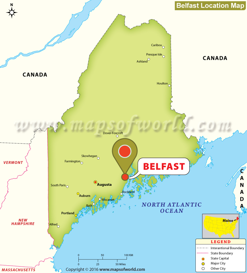 Where is Belfast , Maine