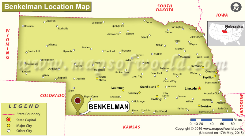 Where is Benkelman, Nebraska