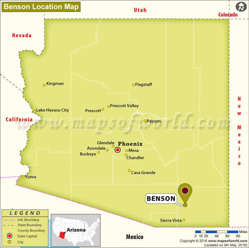Where is Benson, Arizona on california interstate map, az map highways, city of peoria az map, az road map, arizona interstate map, az county map, interstate highway 10 map, interstate 17 map,