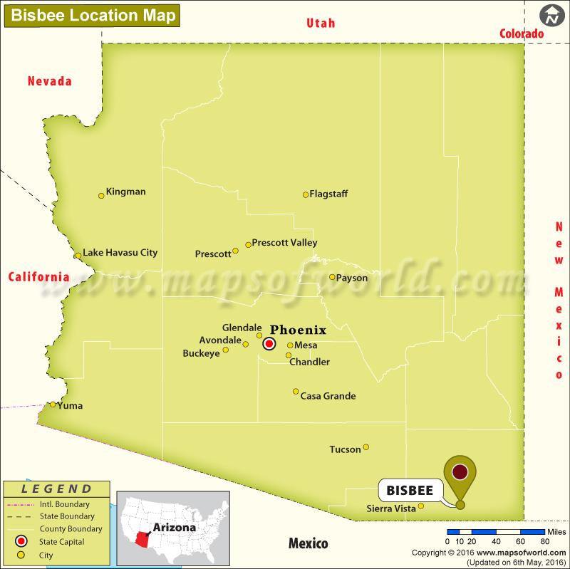 Bisbee Az Map Where is Bisbee, Arizona Bisbee Az Map