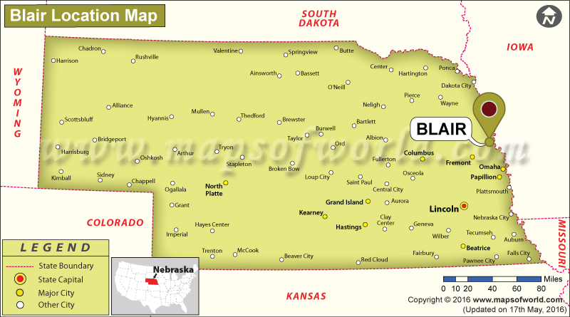 Where is Blair, Nebraska
