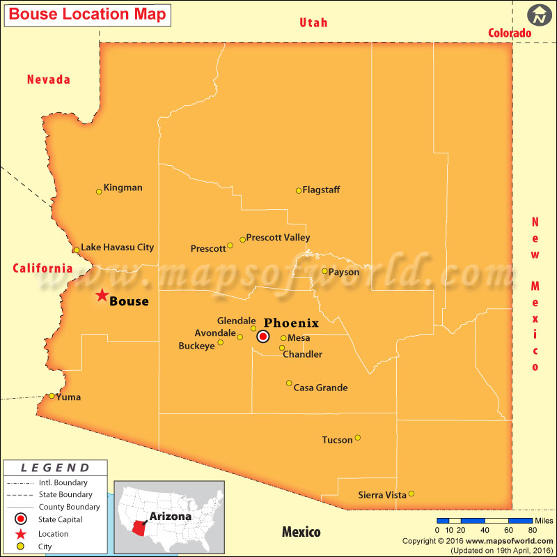 Where is Bouse , Arizona
