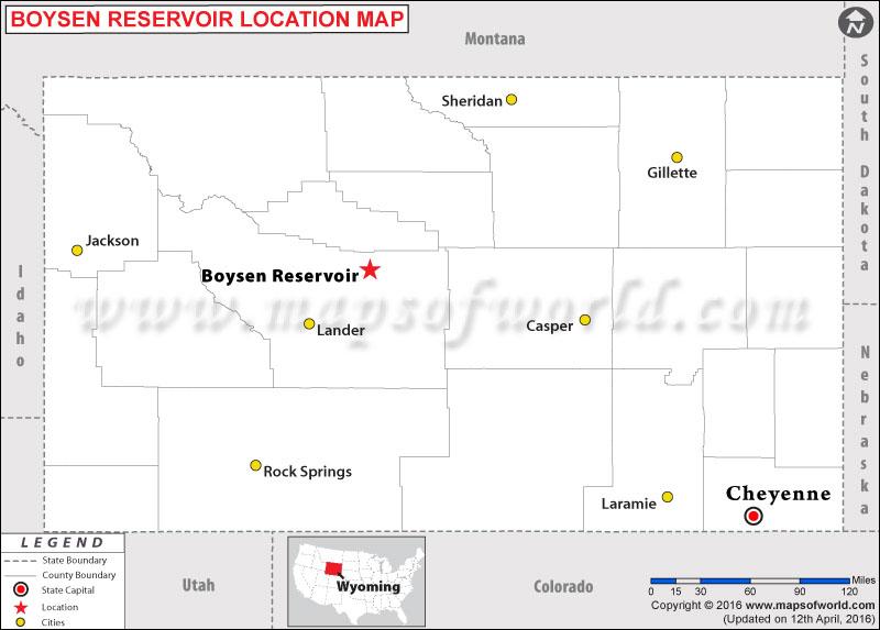 Where is Boysen Reservoir, Wyoming