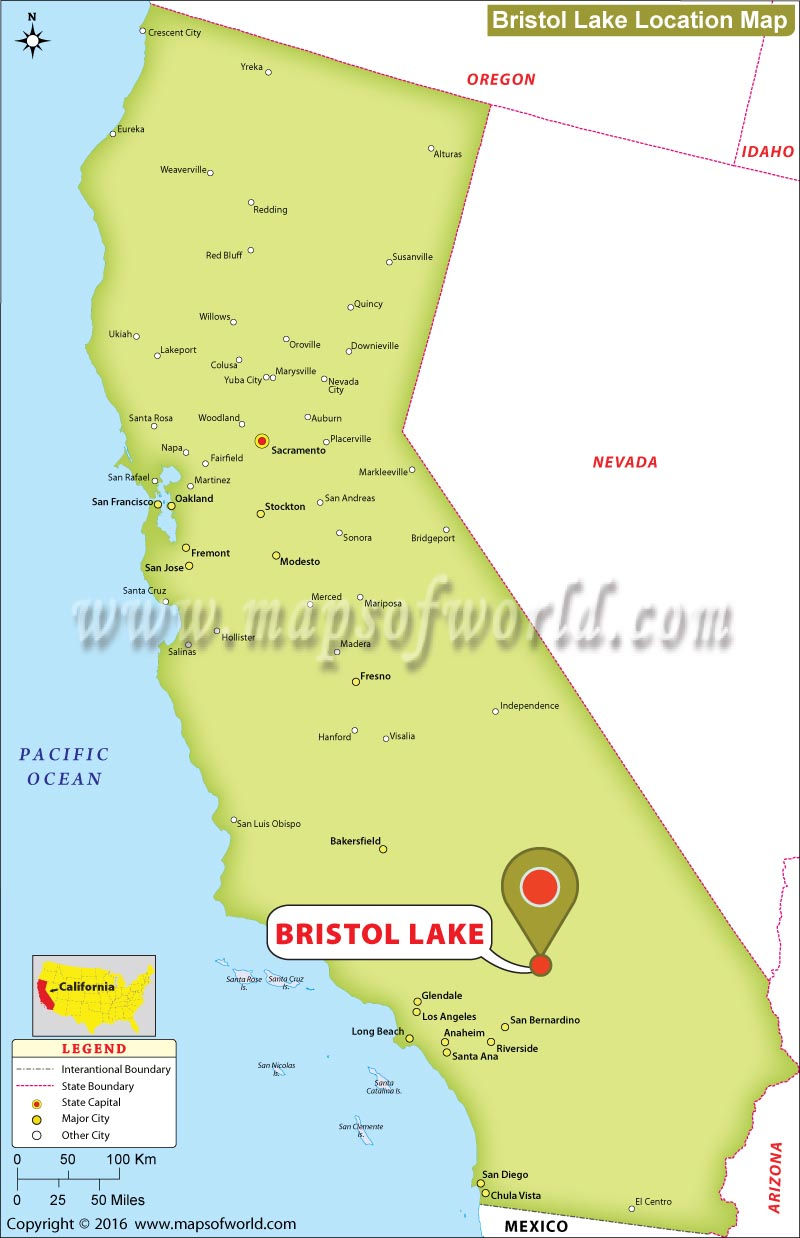 Where is Bristol Lake, California