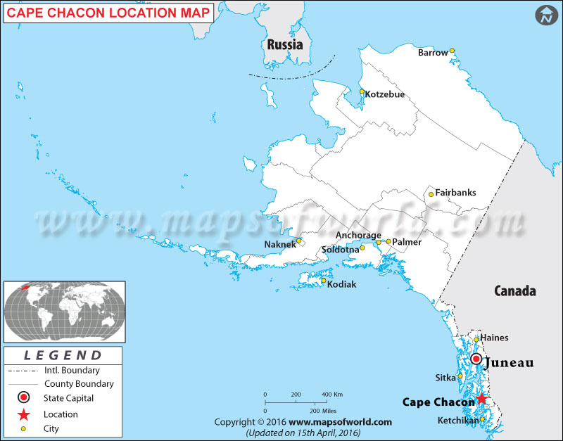 Where is Cape Chacon , Alaska