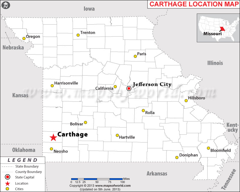 Where is Carthage located in Missouri