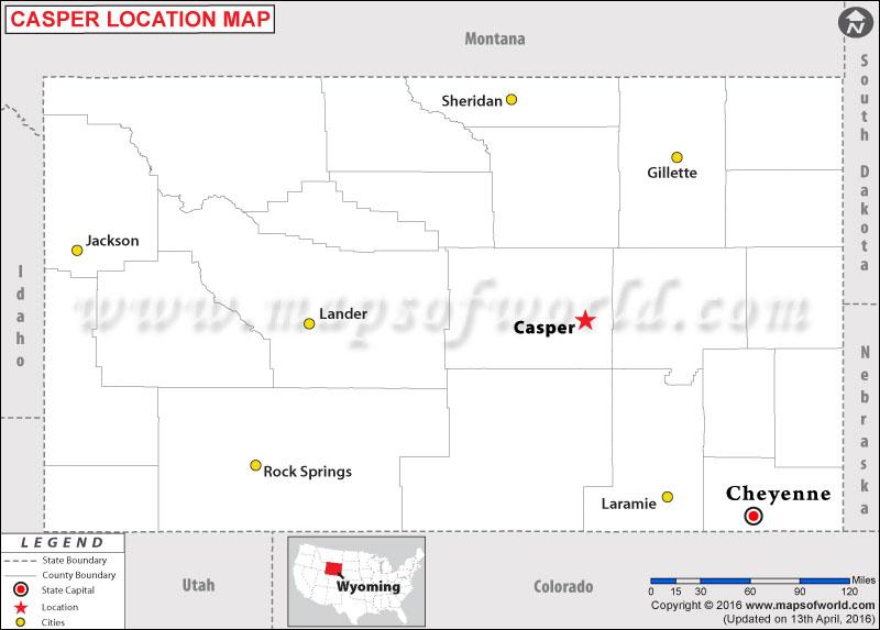 Map Casper Wyoming Where is Casper , Wyoming