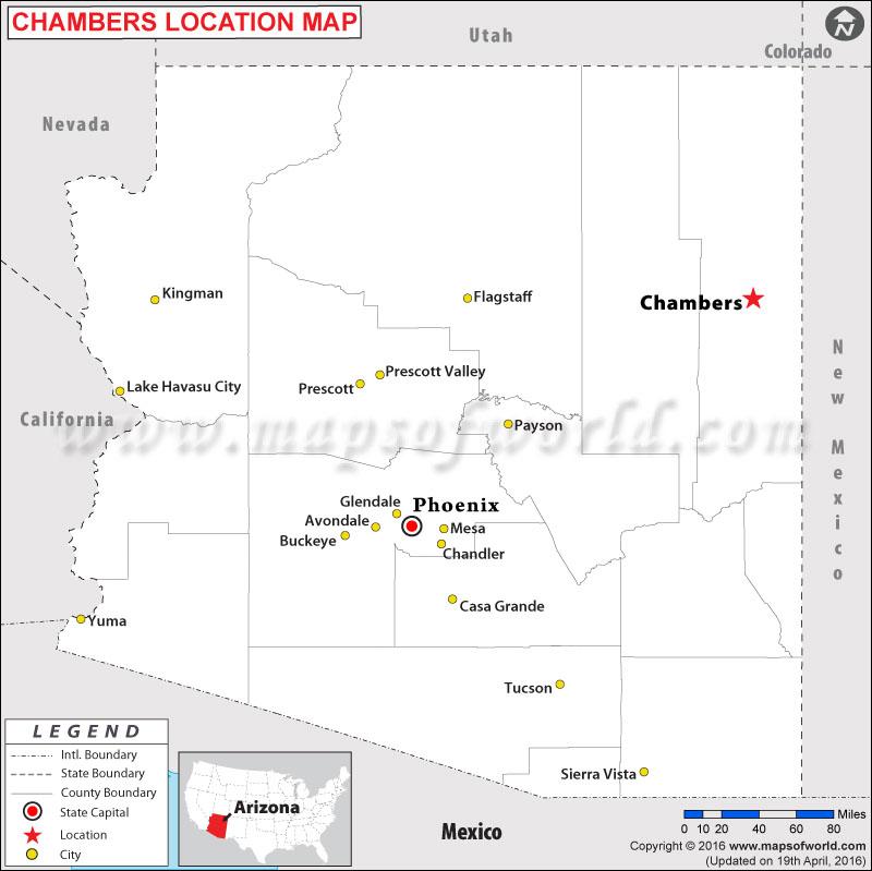 Where is Chambers , Arizona