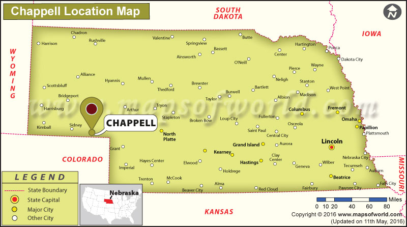 Where is Chappell, Nebraska