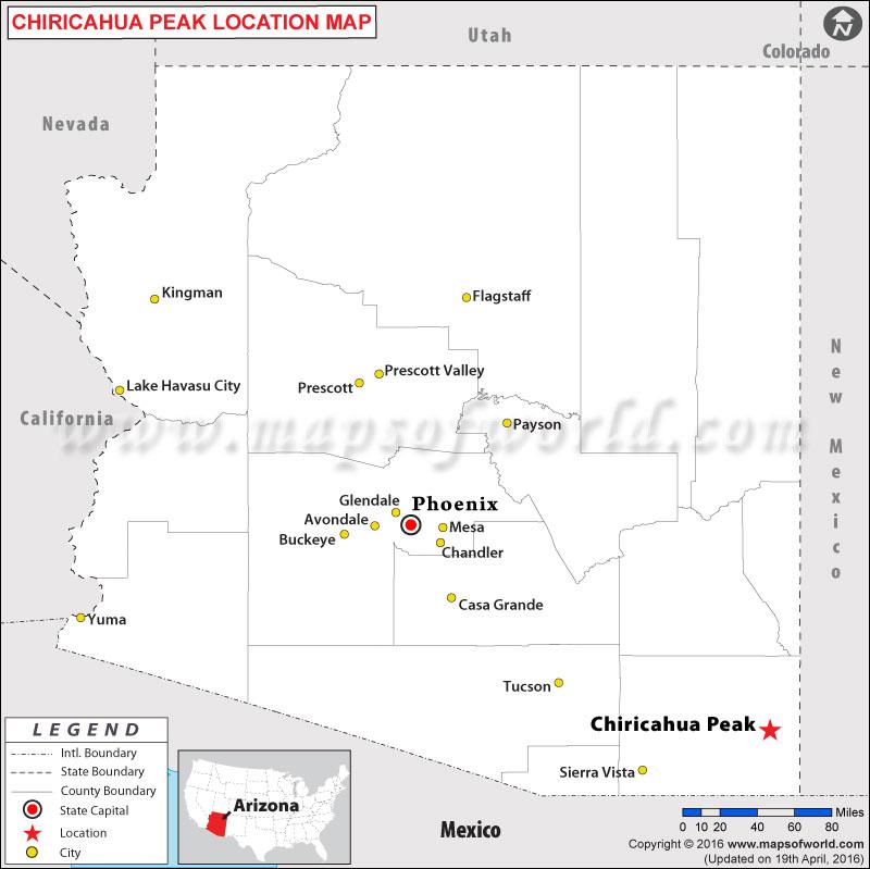 Where is Chiricahua Peak, Arizona