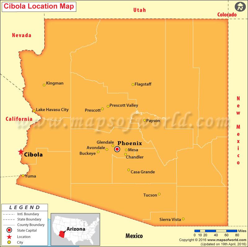 Where is Cibola , Arizona