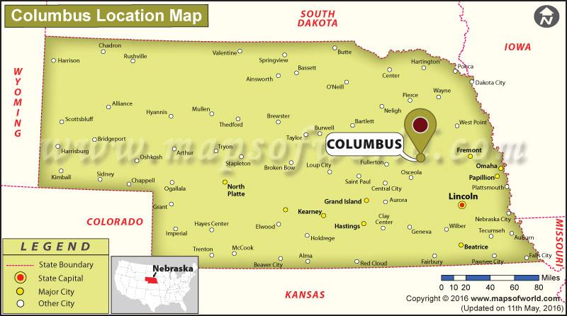 Where is Columbus, Nebraska