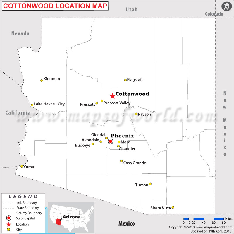 Where is Cottonwood , Arizona