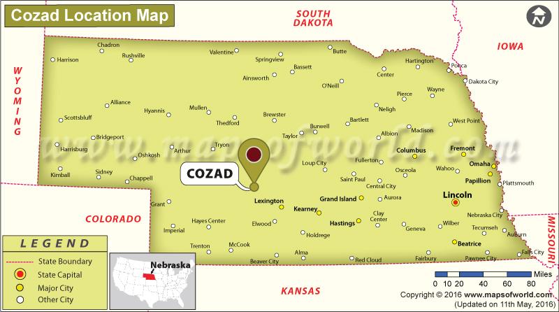Where is Cozad, Nebraska