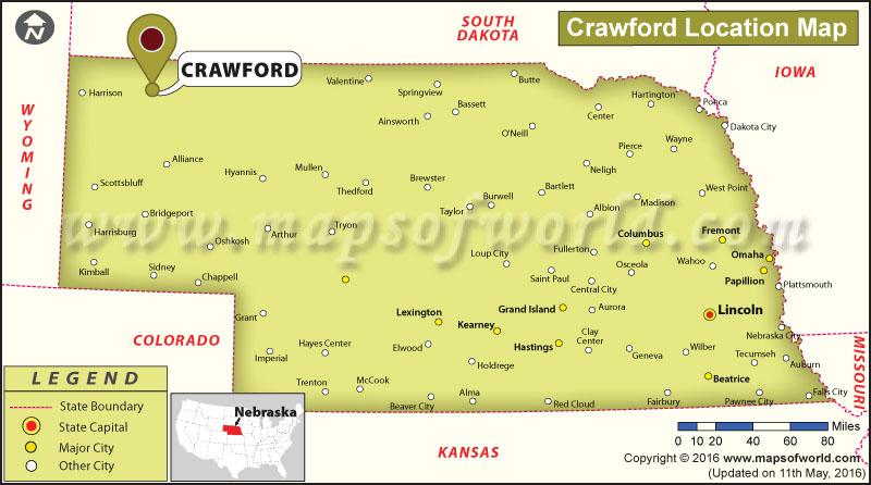 Where is Crawford, Nebraska