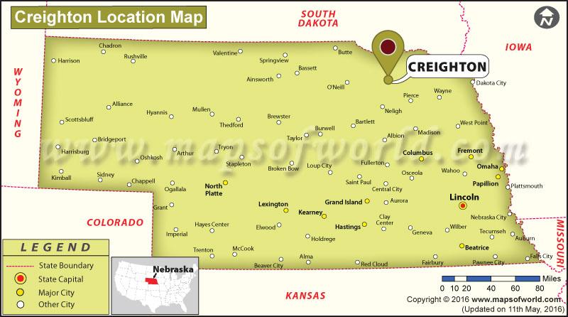 Where is Creighton, Nebraska