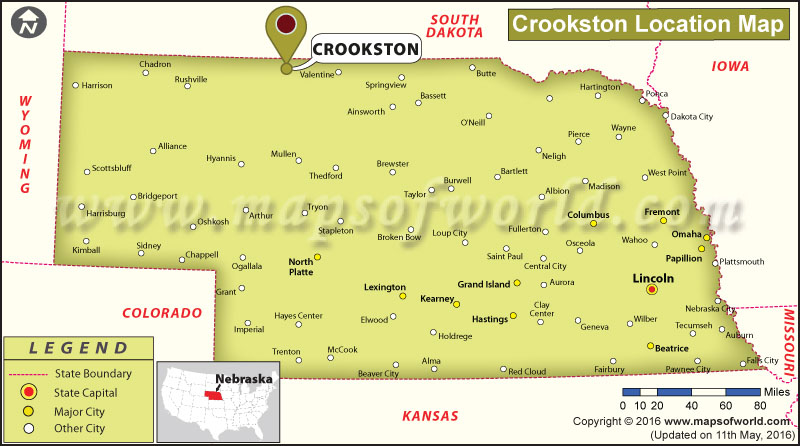 Where is Crookston, Nebraska