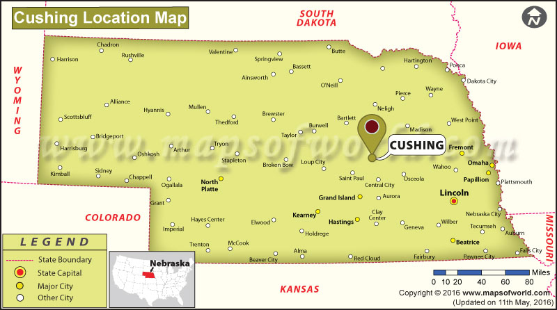 Where is Cushing, Nebraska