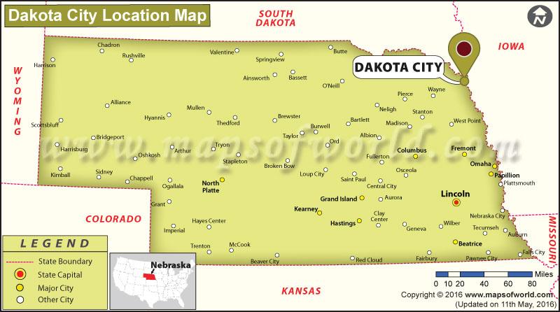 Where is Dakota City, Nebraska