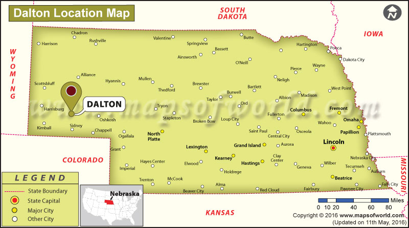 Where is Dalton, Nebraska