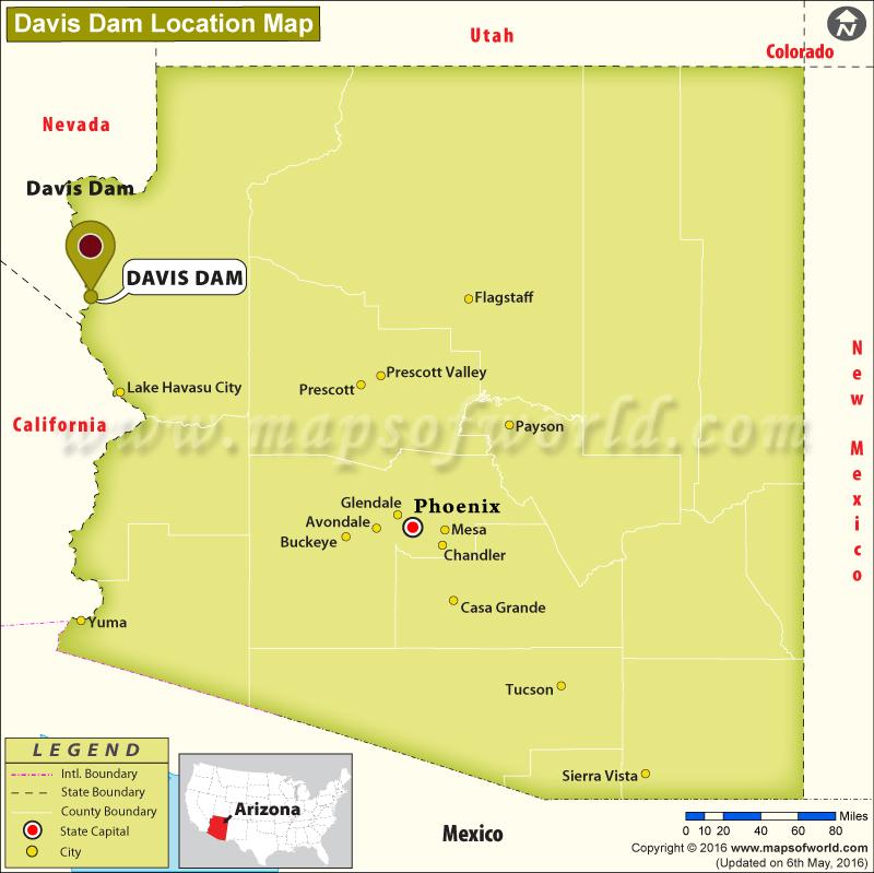 Where is Davis Dam, Arizona